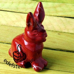 Rabbit Red Jasper with long ears