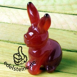 Rabbit Carnelian with long ears