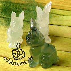 Rabbit Serpentine with long ears 3 pieces