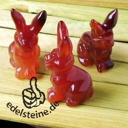 Rabbit Carnelian with long ears 3 pieces
