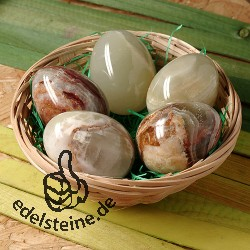 Easter-Egg Set onyx marble 5 pieces