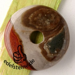 Polychronic-Jaspis Donut 30mm A Anhänger