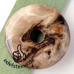 Firewood-Agate Donut 30mm
