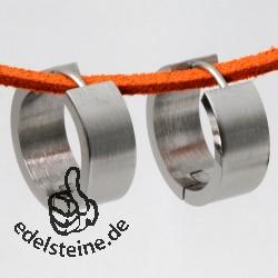 Edelstahl Creolen 7 x 18 mm