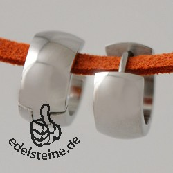 Edelstahl Creolen mit 7 mm/abgerundet
