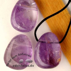 Amethyst Pendant Big AA Quality 3 pcs
