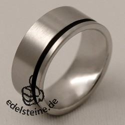 Stainless-Steel Ring Blackline ER225