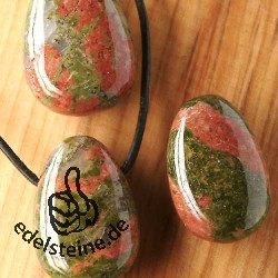 Unakite pendant 3 pcs Big