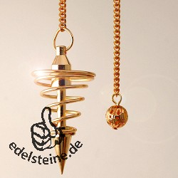 Pendel Spirale goldfarben Metallpendel 4
