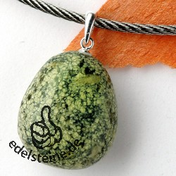 Snake Skin-Jasper pendant with loop