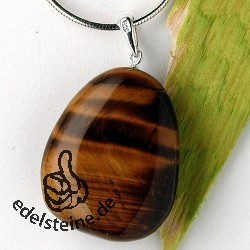 Tigers Eye pendant with loop 3 pieces