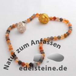 Achat-Perlen, natur 5 mm