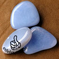 Chalcedon blau Trommelsteine 3 Stück