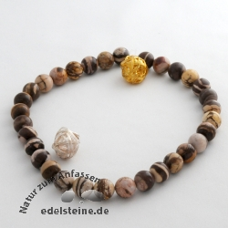 Gemstone-Beads, Cappuccino-Jaspis 12,5 mm