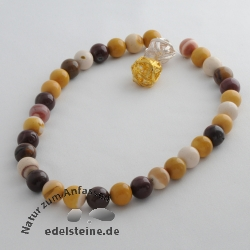 Edelstein-Perlen, Mookait 12,5 mm A 40cm