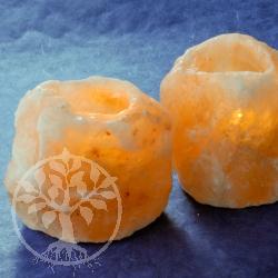 Salzkristall-Teelicht 3 Stueck