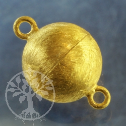 Magnetic Clasp Gold-plated brushed Ball 12 mm