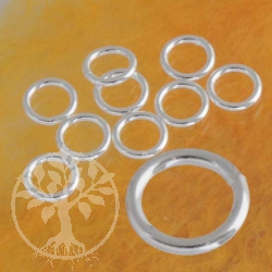 Bindering Geschlossen 5.0x0.6 mm Ring zum Verbinden Echt 925er Silber