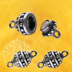 Oxidierter Silber-Magnet-Verschluß, 13 x 7 mm, Olive Silber 925 Schliesse