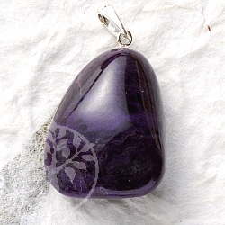 Sugilite Pendant with Silver Loop 925 dark