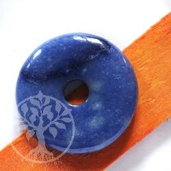 Blauquarz Donut 30mm A-Qualität Hell mit Streifen Blauquarz Pi Scheibe