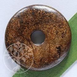 Bronzit Donut 30 mm Bronzit Edelstein Scheibe als Anhänger
