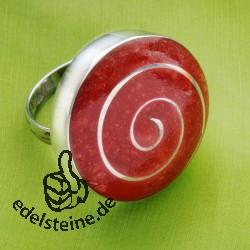 Koralle Ring 10