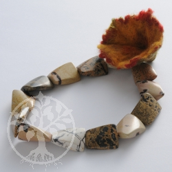 Gemstone Beads, Antic Jasper, square