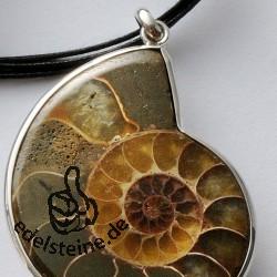 Ammoniten-Anhänger SIAM 40mm Silber 925