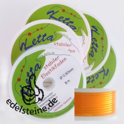 5 x Elastikfaden, 0,80 mm, orange, 5 m