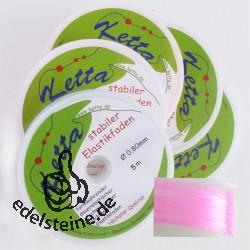 5 x Elastic-Cord, 0,80 mm, pink, 5 m