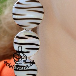 Zebra-Shell ear pendant with silver 3