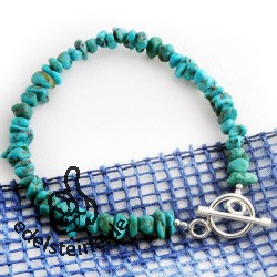 Turquoise  bracelet with silver closure