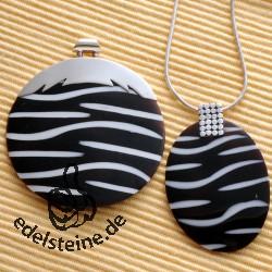 Zebra-Muschel Anhänger Set 4