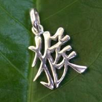 Chinesisches Sternzeichen Affe aus echt Silber 925 Silberanhänger