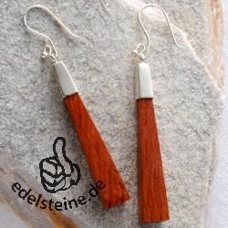 Holz Ohrhänger Ohrringe mit Silber 925 Nr. 3