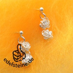 Silver Earring Rose