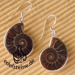 Ammoniten-Ohrhänger klein 18-25mm