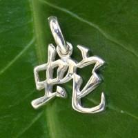 Chinesisches Sternzeichen Schlange aus echt Silber 925