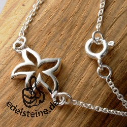 Curb Silver Chain Starfish 40 cm