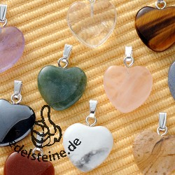 Heart Pendants Mini 10 pcs
