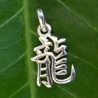 Chinesisches Sternzeichen Drache Feiner Silberanhänger 925