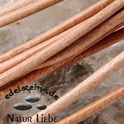 Jewellery Leather round 1,5mm nature 10 pcs.
