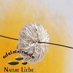 Netzscheibe, Silber, handgefertigt, 22 mm