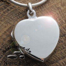 Medaillon heart made of silver big