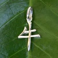 Chinesisches Sternzeichen Büffel Silberanhänger 925 Silber