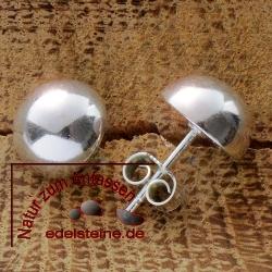 Silber-Ohrstecker Halbkugel klein