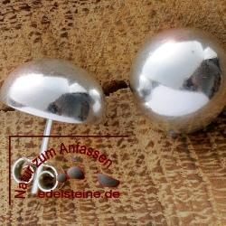 Silber-Ohrstecker Halbkugel gross