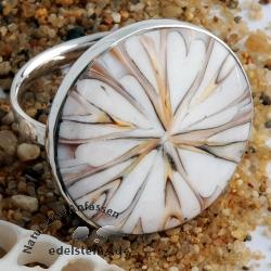 Spider Muschel Ring mit Silber 1