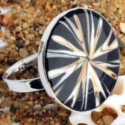 Spider-Muschel Ring aus Echt 925 Silber 2